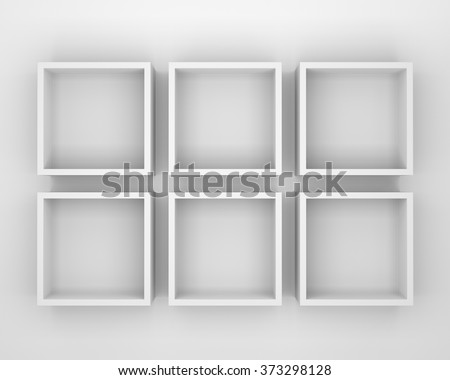 simple square frame or shelf from top view