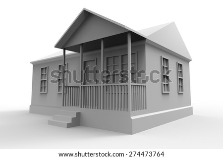 Simple Style house - stock photo