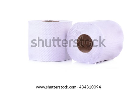 Simple toilet paper isolated on white background