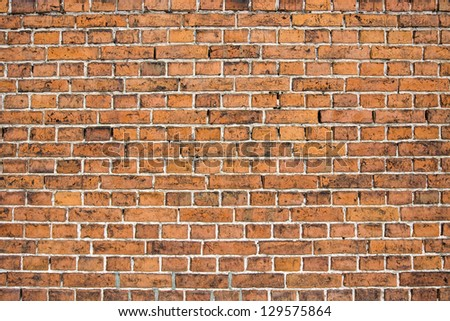 simple Wall of many small brown bricks