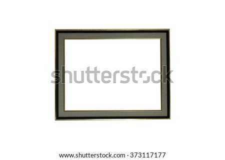 simple wooden picture frames, isolated on white