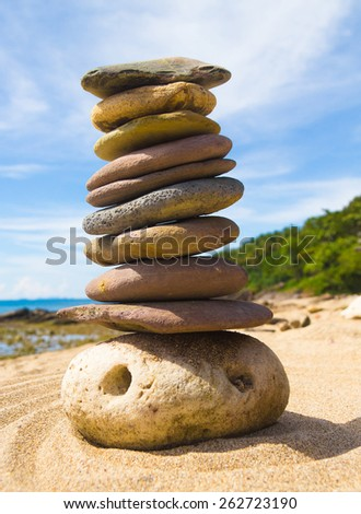 Simplicity in Inspiration Stone Tower  - stock photo