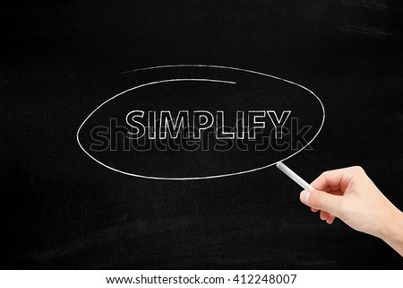 Simplify written with chalk
