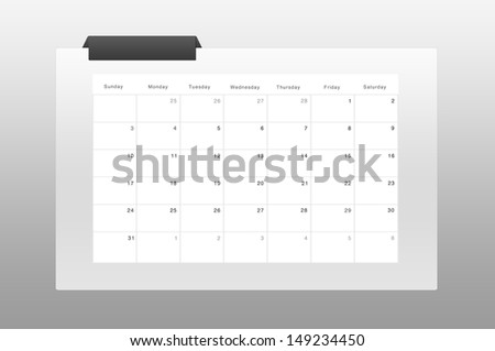 simply calendar & organizer march 2013 - stock photo