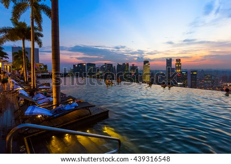 Sand harbor stock images royalty free images vectors shutterstock - Singapur skyline pool ...