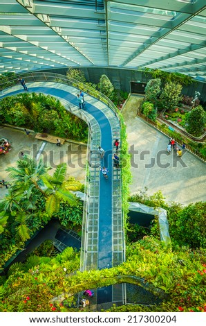 Garden By The Bay August 2014 singapore august 2 display flower dome stock photo 217300144