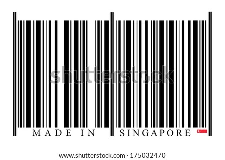 Singapore barcode on white background