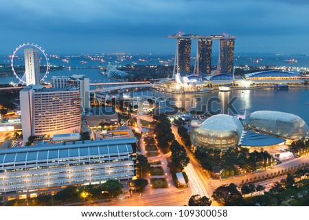 Singapore by evening