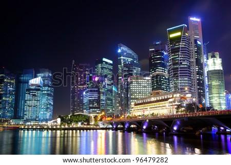Singapore city - stock photo