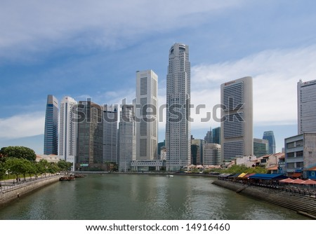 Singapore City Scape - stock photo