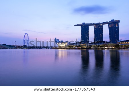 Singapore city skyline at early morning