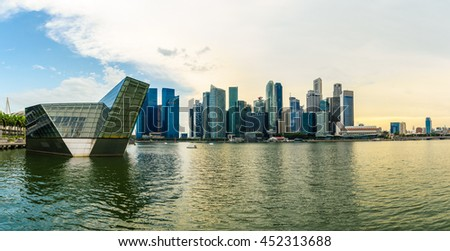Singapore city skyline of business district downtown