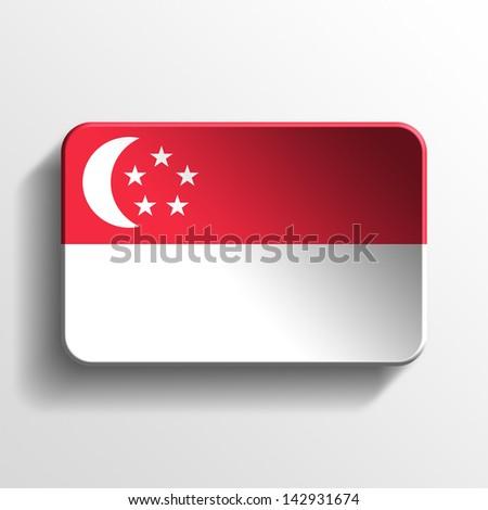 singapore 3d button - stock photo