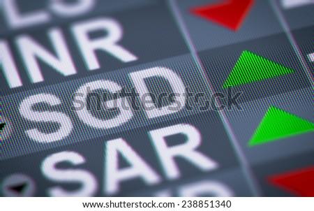 Singapore dollar - stock photo