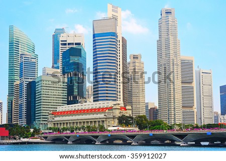 Singapore Downtown Core - financial district of Singapore