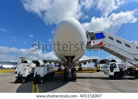 SINGAPORE - FEBRUARY 16:  at Singapore Airshow February 16, 2016 in Singapore