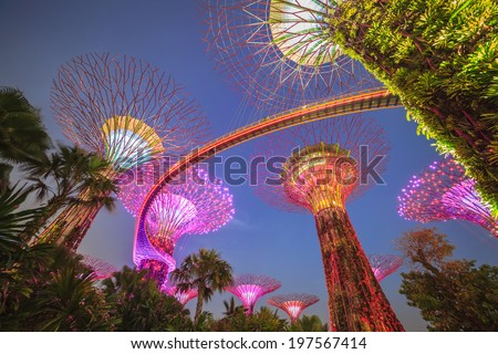 Singapore Gardens by the Bay - stock photo