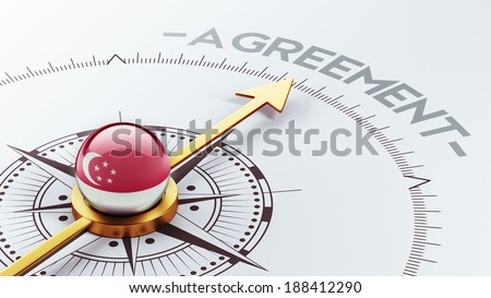 Singapore High Resolution Agreement Concept - stock photo