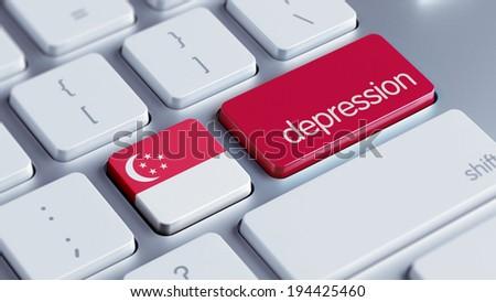 Singapore High Resolution Depression Concept - stock photo