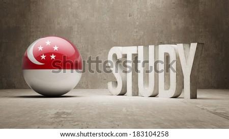 Singapore High Resolution Study Concept - stock photo