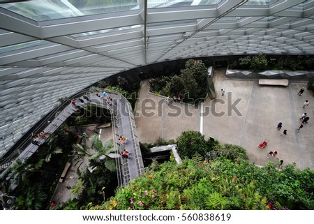 Singapore Jan Winter Garden Singapore Stock Photo