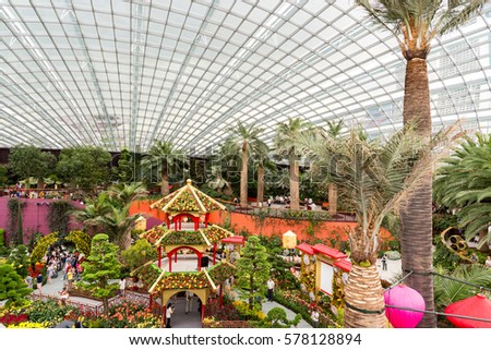 Garden By The Bay Flower Festival flower dome singapore stock images, royalty-free images & vectors