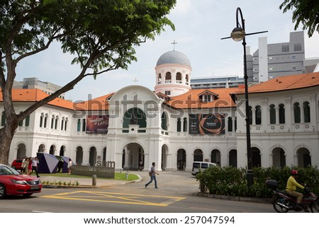SINGAPORE - JANUARY 26, 2015: St. Joseph's Institution is a Catholic secondary school for male students in Singapore. It was founded in 1852, It is the oldest Catholic school in Singapore. - stock photo