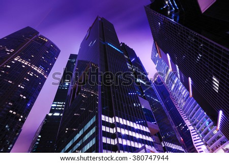 SINGAPORE, JANUARY 1, 2013: View of downtown Singapore. Singapore is one of the world's major commercial hubs.