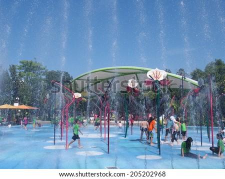 singapore jun 20 childrens garden at gardens by the bay in singapore on june - Garden By The Bay Water Park