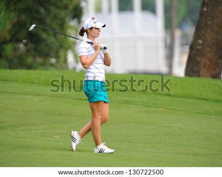 SINGAPORE - MARCH 3: Beatriz Recari walking during HSBC Women's Champions at Sentosa Golf Club Serapong Course March 3, 2013 in Singapore