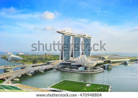 SINGAPORE - MARCH 08, 2013: Marina Bay Sands Resort  in Singapore. It is billed as the world's most expensive standalone casino property at S$8 billion