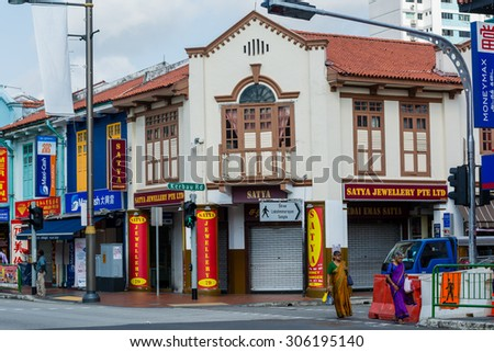 SINGAPORE - 21 May 2015 :Little India is, as the name promises, the centre for the large Indian community in Singapore..