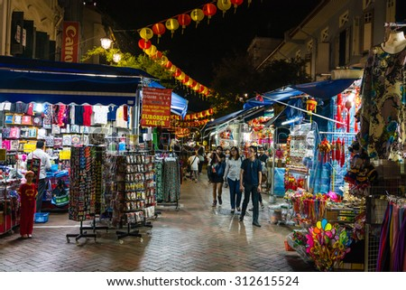 SINGAPORE - 22 May 2015 :Singapore's Chinatown is an ethnic neighbourhood featuring distinctly Chinese cultural elements and a historically concentrated ethnic Chinese population.  - stock photo