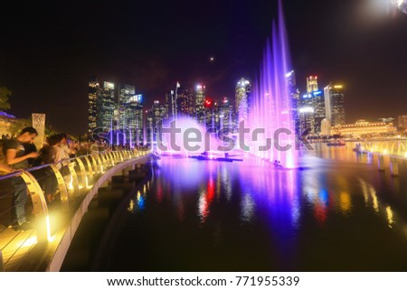 singapore november 222017 amazing light water stock photo safe to