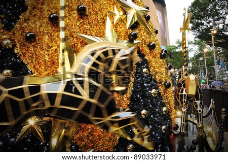SINGAPORE - NOVEMBER 17: Christmas Horse Decoration at Singapore Orchard Road on November 17, 2011 in Singapore