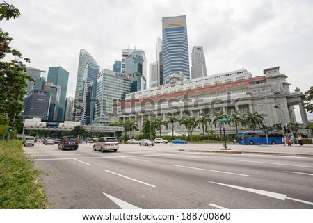 Urban road modern buildings city stock photo 272995742 for Five star hotels in singapore