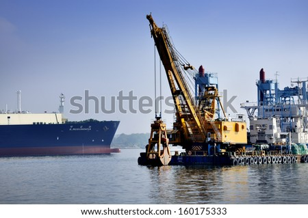SINGAPORE-Oct 27: Dayview of Sembawang Shipyard. It is located in Sembawang & close to Sembawang MRT (NS11) on Oct 27, 2013 in northen Singapore.
