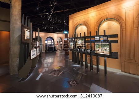 SINGAPORE - OCTOBER 17, 2014: Inside The National Museum of Singapore. It is the oldest museum in Singapore.