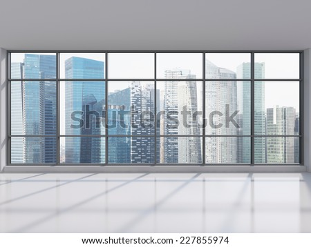 Singapore office city view - stock photo