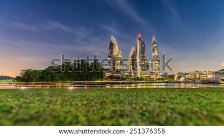 SINGAPORE : Reflections at Keppel Bay in Singapore. This luxury waterfront residential complex received multiple awards for design and safety in 2012. - stock photo