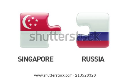 Singapore Russia High Resolution Puzzle Concept