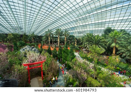 singapore singapore march 27 2016 gardens by the bay flower dome