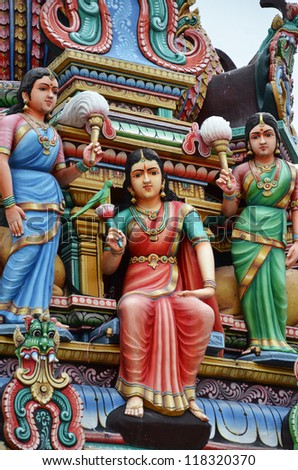 SINGAPORE, SINGAPORE NOVEMBER 10: Picture of Sri Mariamman Temple two days before Devali festival on 10 November 2012 in Singapore.