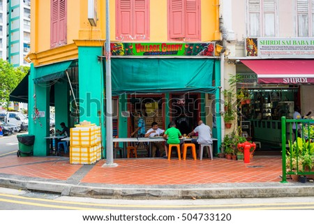 Singapore, Singapore - October 15, 2016 : market at Little India, Singapore during Deepavali day