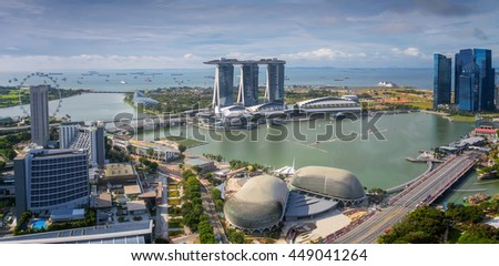 Singapore Skyline. Singapore city in moring, day time. - stock photo