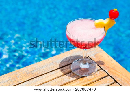 Singapore Sling is a cocktail - stock photo