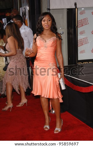 "Singer/actress ASHANTI at the Los Angeles premiere of her new movie ""John Tucker Must Die"" at the Grauman's Chinese Theatre, Hollywood. 25 July 2006  Los Angeles, CA  2006 Paul Smith / Featureflash"