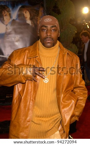 Singer COOLIO at the Los Angeles premiere of Harry Potter and the Chamber of Secrets. 14NOV2002.   Paul Smith / Featureflash - stock photo