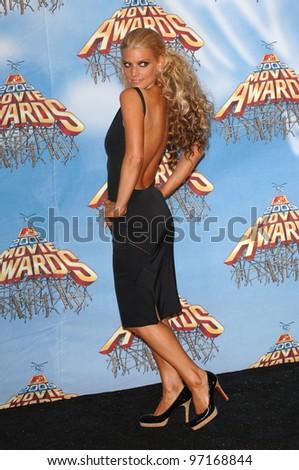 Singer JESSICA SIMPSON at the 2005 MTV Movie Awards at the Shrine Auditorium. June 4, 2005. Los Angeles, CA  2005 Paul Smith / Featureflash - stock photo