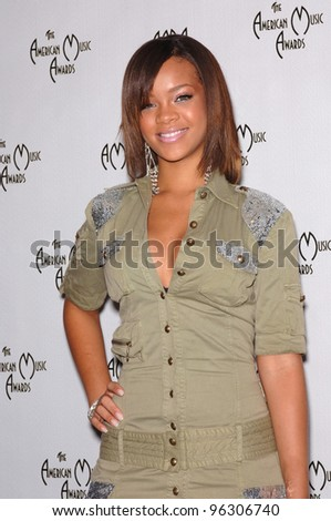 Singer RIHANNA at the nominations announcement for the 33rd Annual American Music Awards at the beverly Hills Hotel. September 20, 2005  Beverly Hills, CA  2005 Paul Smith / Featureflash - stock photo